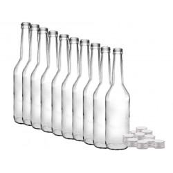 10 x Glasflasche mit...
